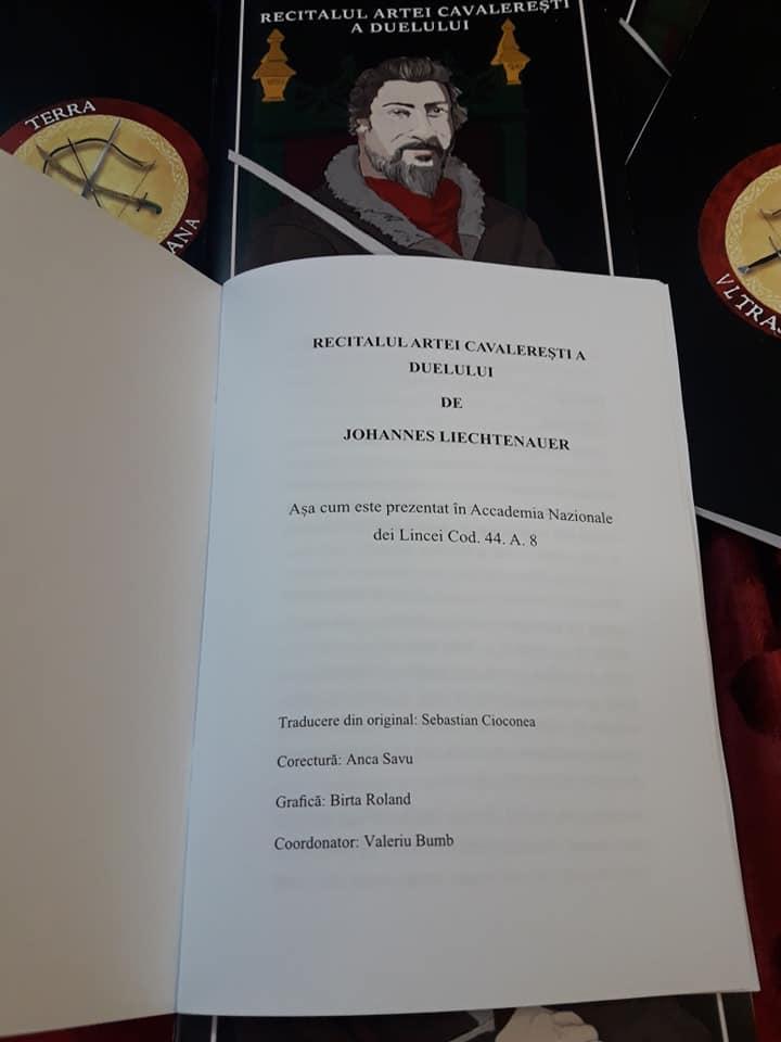prima pagina recitalului artei cavaleresti de Liechtenauer