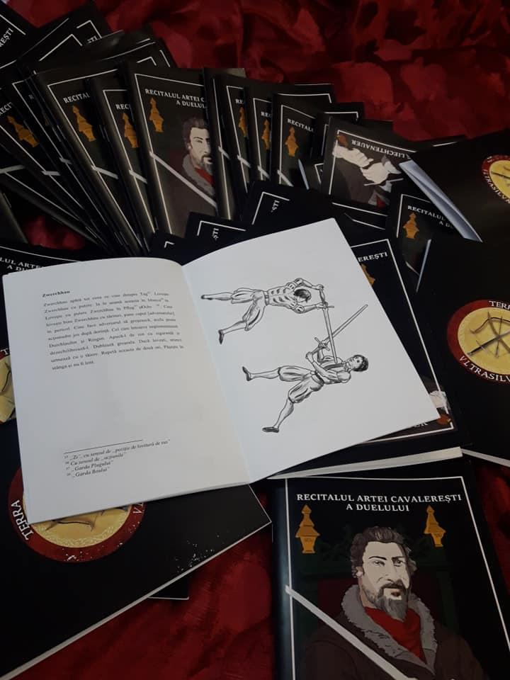 pagini din prima traducere in romana a recitalului artei cavaleresti de Liechtenauer