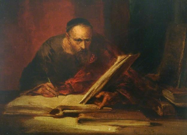 featured image blog hema in romania consisting of a painting of a scribe